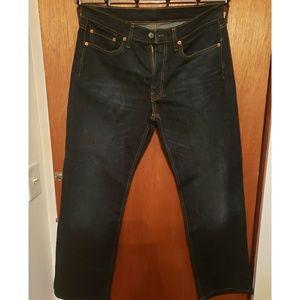 Levi's 514 Dark Blue Wash Jean's- Size 34 x 32
